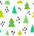 spruces seamless pattern vector image vector image