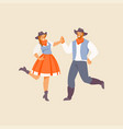square dance american dance vector image
