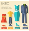 style fashion clothing for family icon set vector image