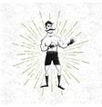 symbol of vintage boxer vector image vector image