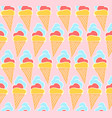 tender pink pattern with hand drawn ice creams vector image vector image