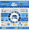 Transport Colored Infographics vector image vector image