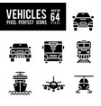 vehicle and transport solid icon pixel perfect vector image vector image