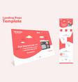 website landing page template design vector image vector image