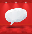 White geometric speech bubble in the room vector image vector image