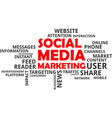 word cloud - social media marketing vector image