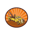 Vintage pick-up cargo truck vector image
