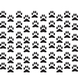 Dog foot print background vector image