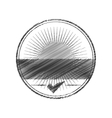 Seal of guarantee with approval symbol vector image