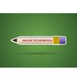 Pencil sticker with eraser vector image