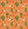 seamless pattern with desert surface vector image