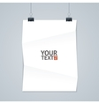 White Paper with Clip vector image