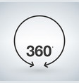 360 degree view of circle arrows isolated signs vector image vector image