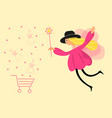 a fairy girl flat style make online vector image vector image