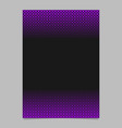 abstract halftone pattern poster template - page vector image vector image