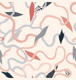 abstract seamless floral pattern with swirl vector image