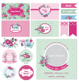 Baby Shower Flower Theme vector image vector image