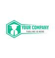 bee business logo vector image