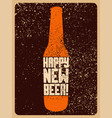 beer typographic vintage grunge christmas card vector image vector image