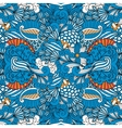 Blue full frame seamless intricate background vector image vector image