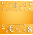 Business background with money Currency symbols vector image vector image