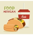 cartoon food mexican design isolated vector image