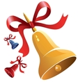 Christmas bell with red ribbon vector | Price: 1 Credit (USD $1)