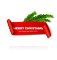 Christmas paper banner vector image