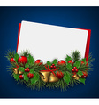 Christmas paper card background with fir twigs vector image vector image