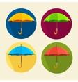 colorful umbrellas set Flat Design vector image