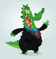 cute cartoon crocodile vector image