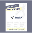 cutter title page design for company profile vector image vector image