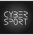 Cyber sport phrase vector image vector image