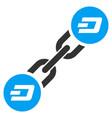 dash blockchain flat icon vector image vector image