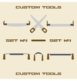 Different carpentry tool silhouette icon set vector image vector image
