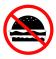 do not food icon on white background flat style vector image vector image