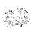 easter time poster with branches decoration in vector image vector image