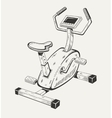 Exercise bike Sport equipment vector image vector image