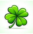 four leaf clover design vector image