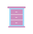 furniture bathroom drawers cabinet wooden vector image vector image