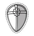 gift box ribbon traditional decorative egg shape vector image vector image