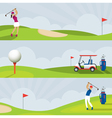 Golf Golf Course Banner vector image