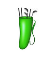 green bag with golf clubs vector image vector image