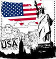 greetings from usa vector image vector image