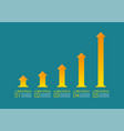 growing up arrow chart infographic vector image vector image