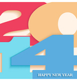 Happy New Year 2014 postcard vector image