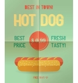 Hot Dog menu price vector image vector image