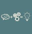 idea concept brain gears idea vector image vector image
