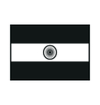 india flag monochrome on white background vector image vector image
