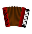 isolated accordion musical instrument vector image